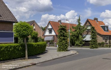 Heden 2015 - Hoek Haarkampstraat / Kamphuisstraat. - Voorthuizen