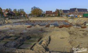 01-10-2014 - Parkeergarage onder de nieuwbouw op de hoek van den Bogertlaan en de van Dompselaerstraat - Barneveld